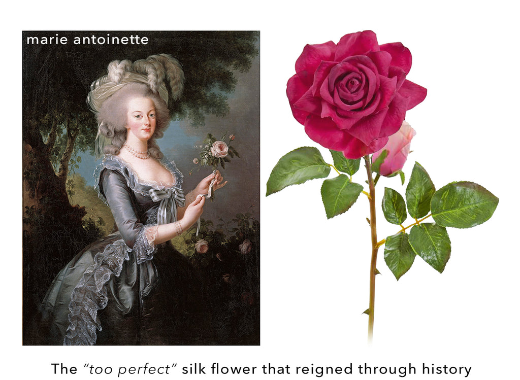 History of Fake Plants - Marie Antoinette Silk Rosebuds