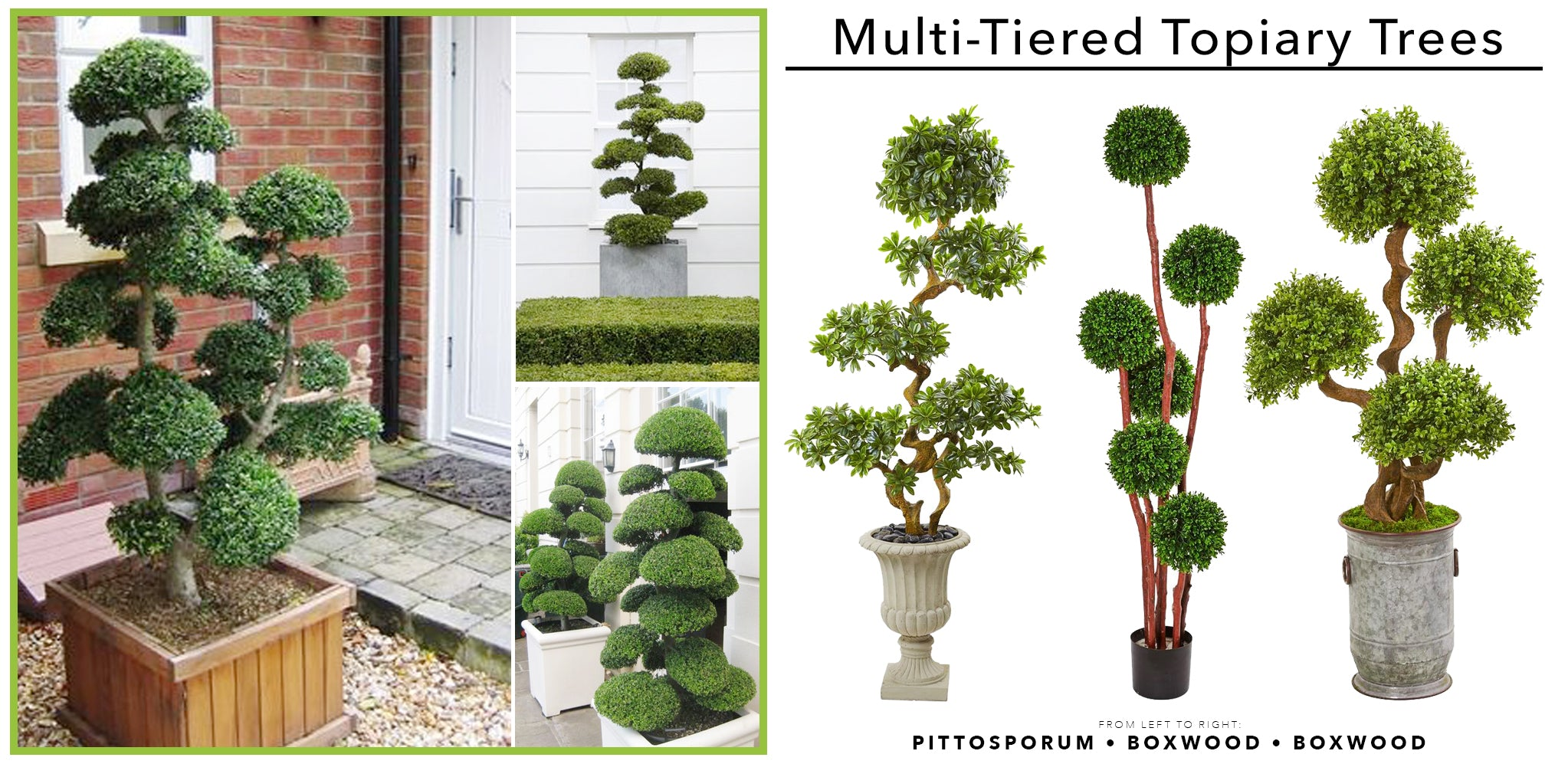 Multi-Tiered Artificial Topiary Trees