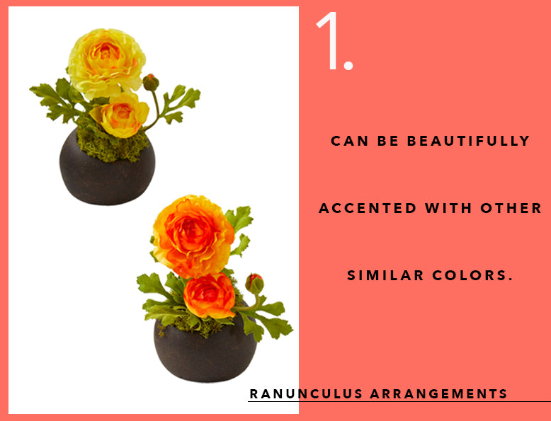 Pantone's Color of the Year With Ranunculus Arrangements