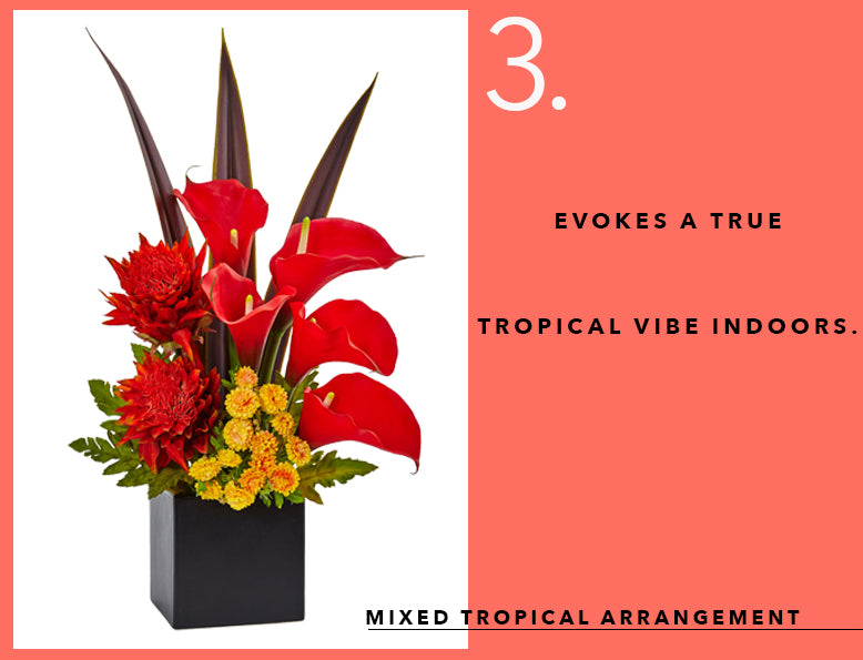Pantone's Color of the Year with Tropical Arrangements