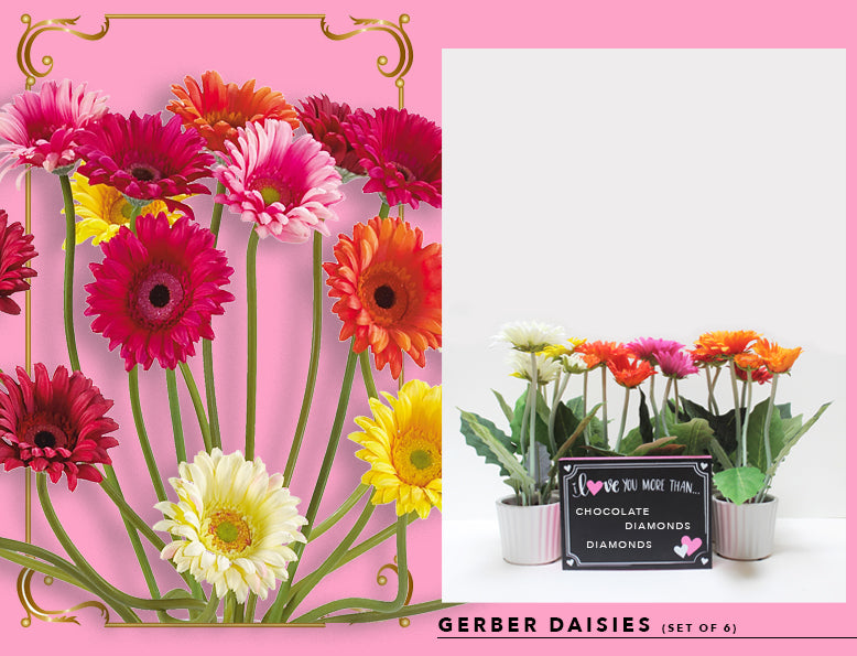 Nearly Natural Fake And Artificial Gerber Daisies
