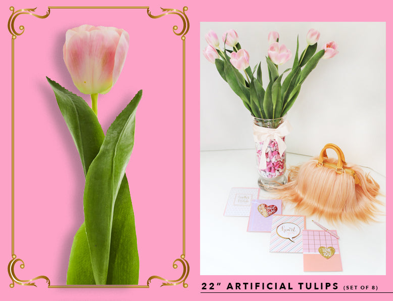 Nearly Natural Fake And Artificial Tulips