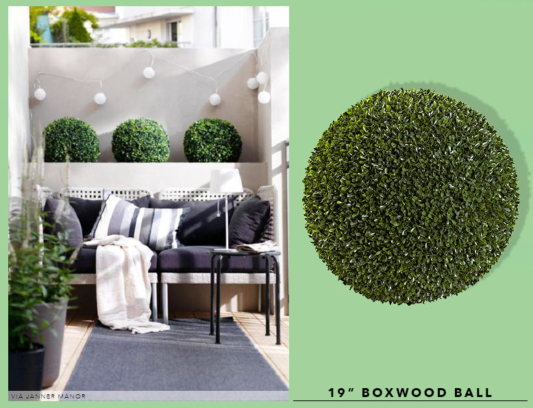 Spring Cleaning + Sprucing With UV Resistant Boxwood Plants
