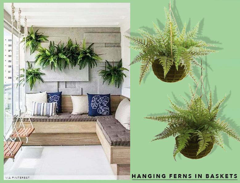 Spring Cleaning + Sprucing With UV Resistant Hanging Ferns