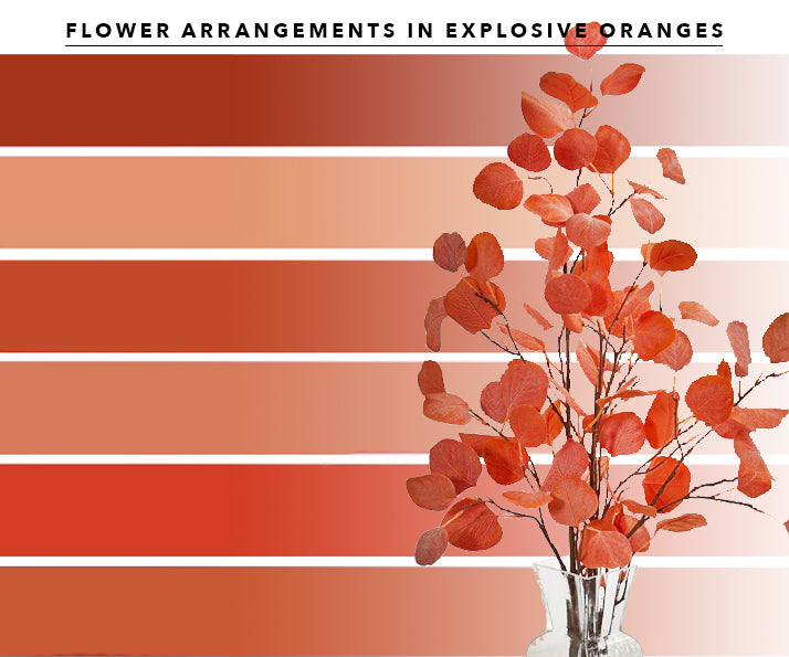 Oranges Artificial Flower Arrangements