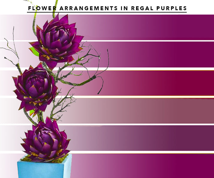 Purple Artificial Flower Arrangements