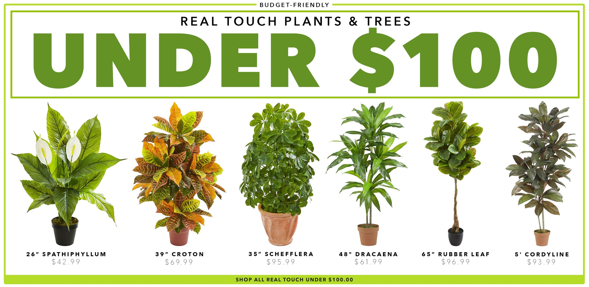 Real Touch Plants & Trees Under $100