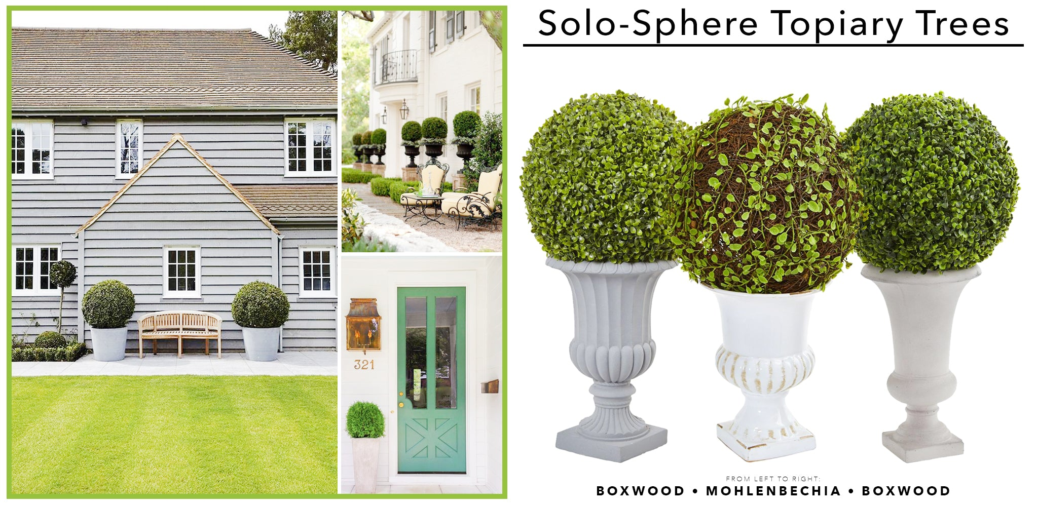 Solo Spheres Artificial Topiary Trees