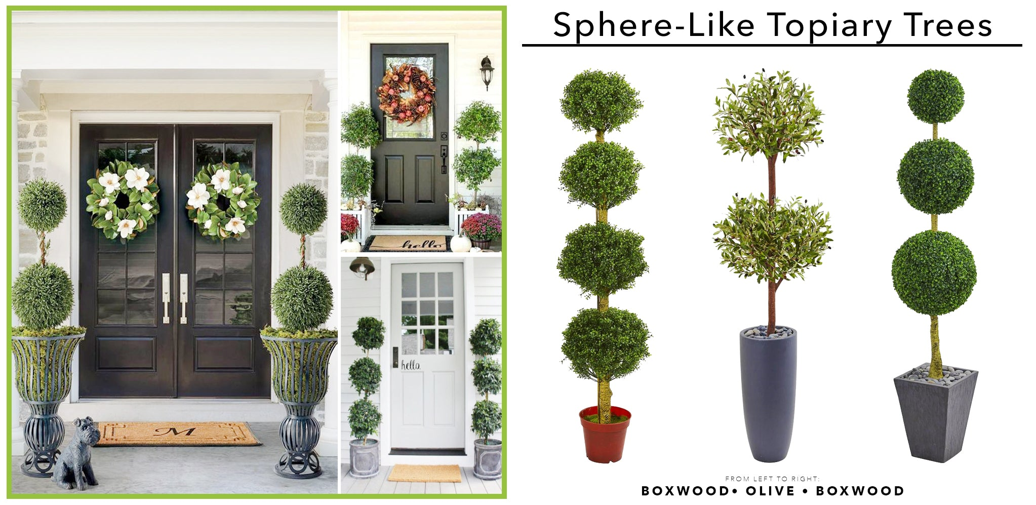 Sphere-Like Artificial Topiary Trees