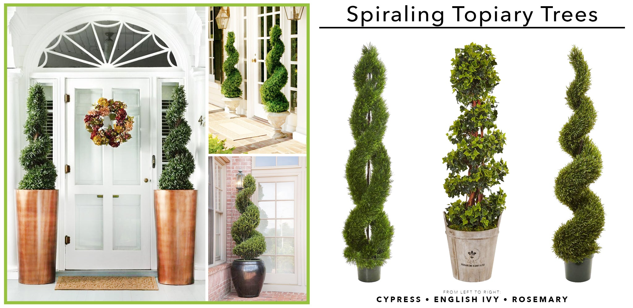 Spiraling Artificial Topiary Trees