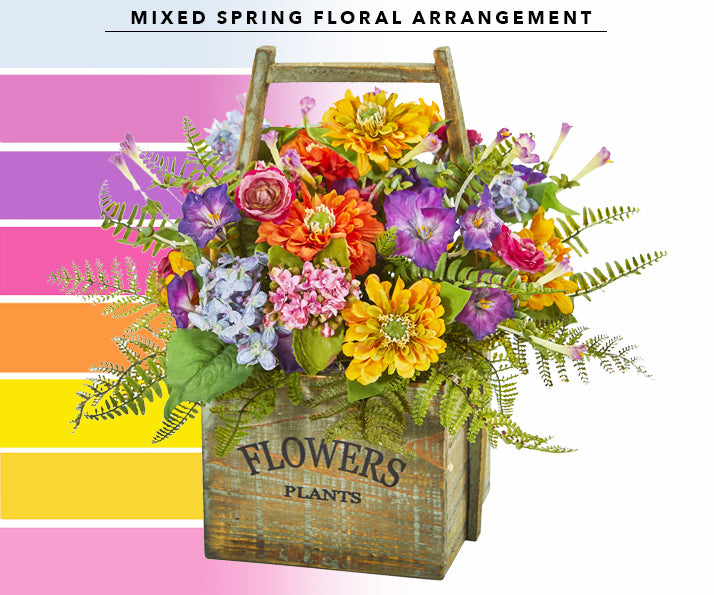 Mixed Spring Floral Arrangement