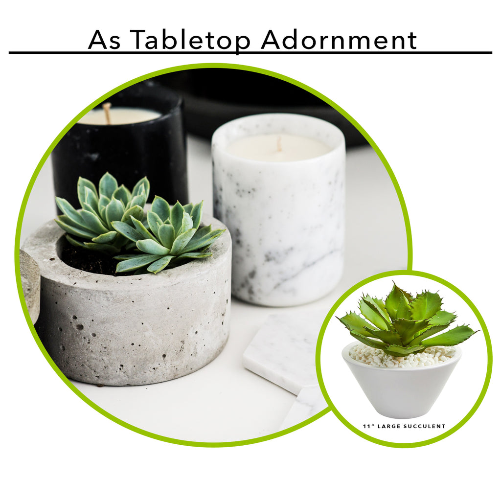 Using Artificial Succulents As Tabletop Adornment