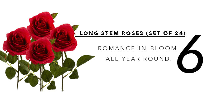 2018's Best In Show of Fake Artificial Plants: Long Stem Roses