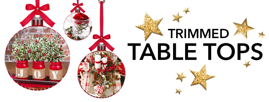 Traditional Christmas Decorations With The Best of Holiday Faux-liage: Trimmed Tabletops