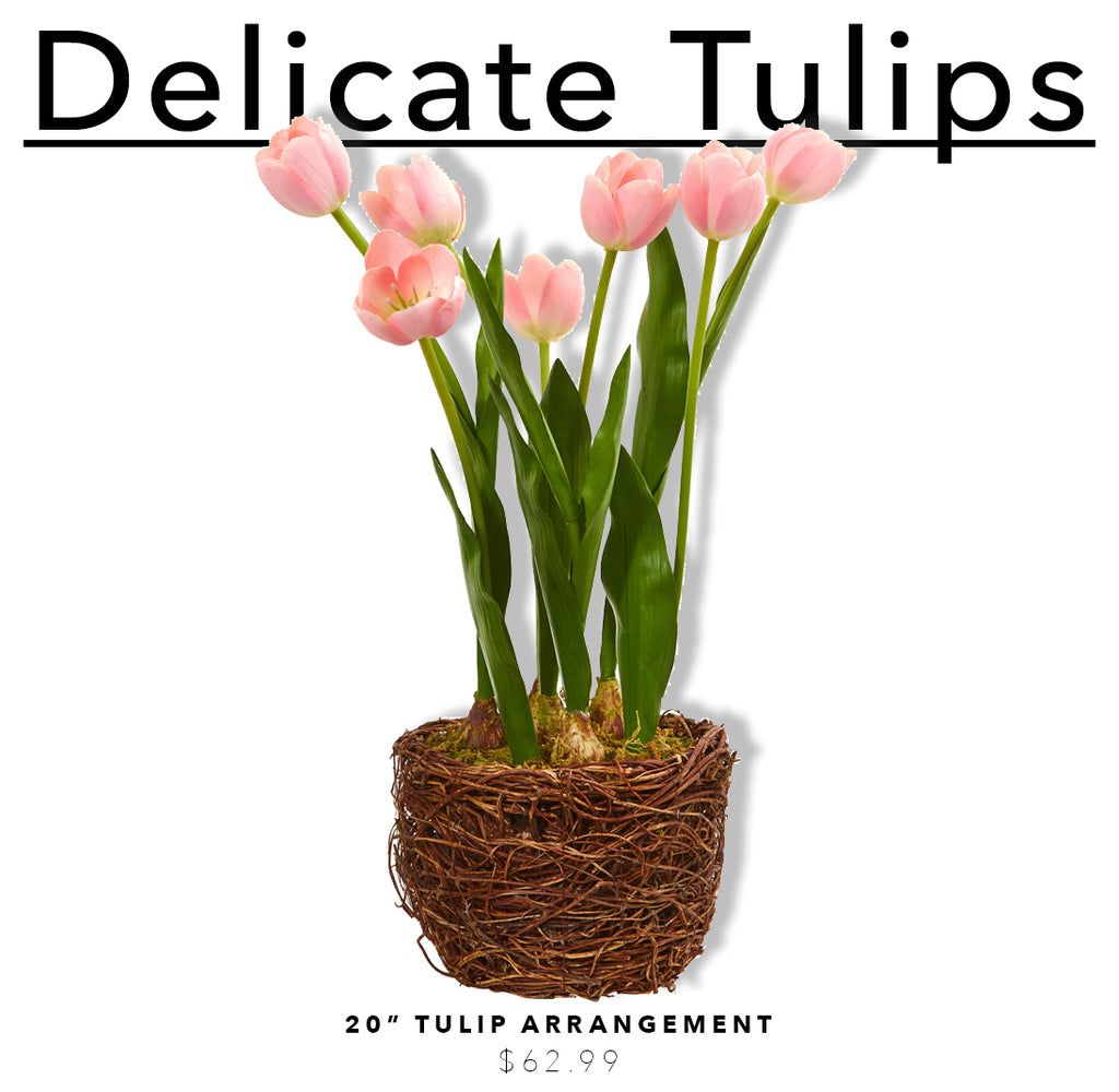 Fake & Artificial Silk Tulip Arrangements