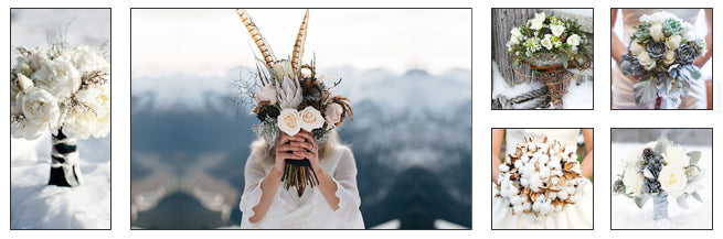 Bridal Bouquets With Winter Florals: Mix and Match