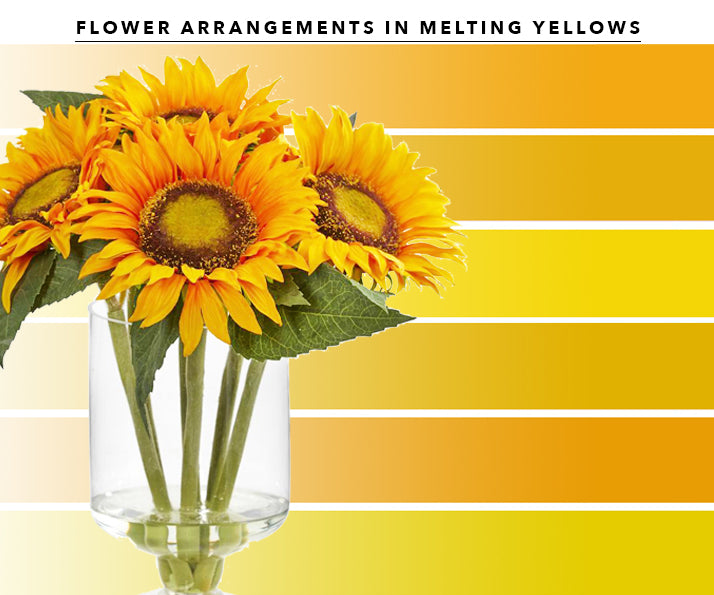 Yellow Artificial Flower Arrangements