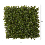 "10.5"" x 10.5"" Rosemary Artificial Wall Mat UV Resistant (Indoor/Outdoor) (Set of 4)"