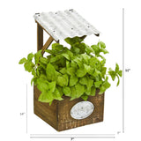 "11"" Basil Artificial Plant in Tin Roof Planter"
