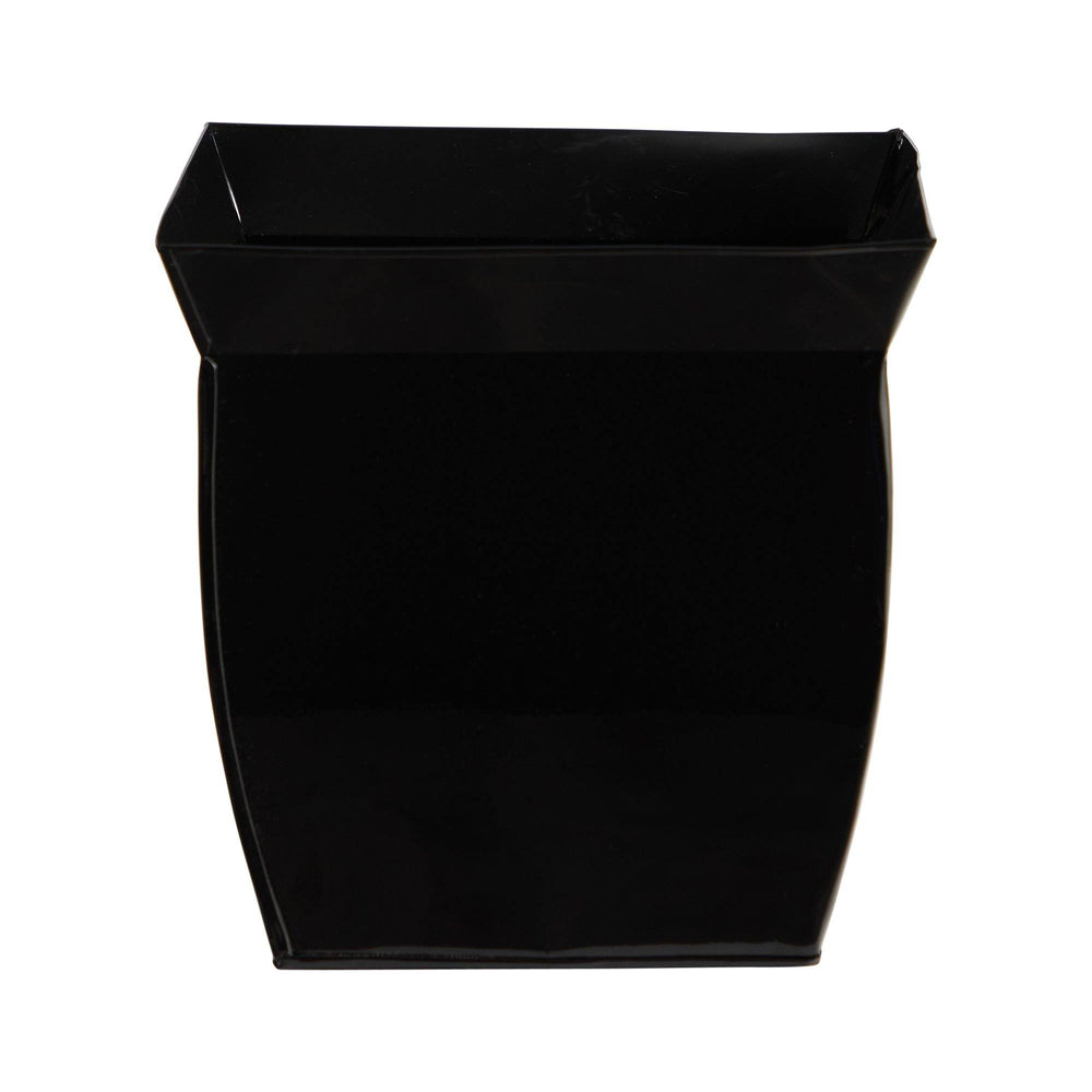 "11.75"" Fluted Metal Square Planter"