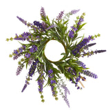 "12'' Lavender Arrangement and 14"" Lavender Wreath (Set of 2)"