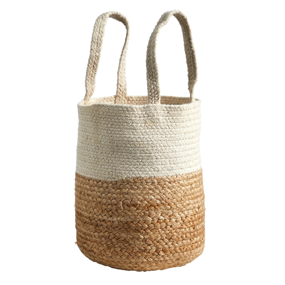 "12.5"" Handmade Natural Jute and Cotton  Planter"