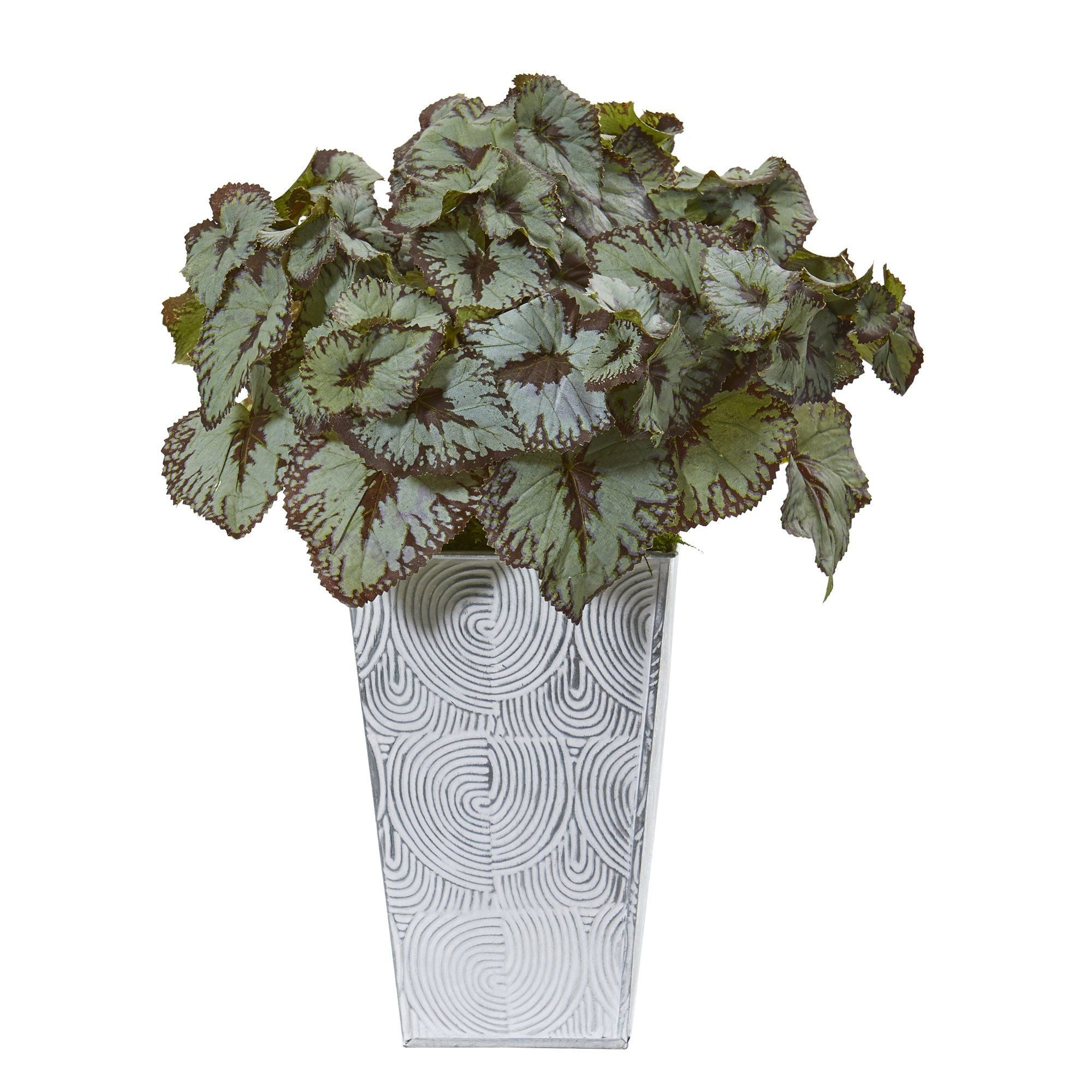 14 Rex Begonia Artificial Plant In Planter Nearly Natural