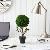 "15"" Boxwood Topiary Artificial Tree UV Resistant (Indoor/Outdoor)"
