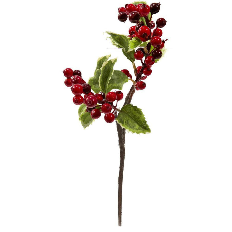 "16"" Holly Berry Artificial Flower (Set of 6)"