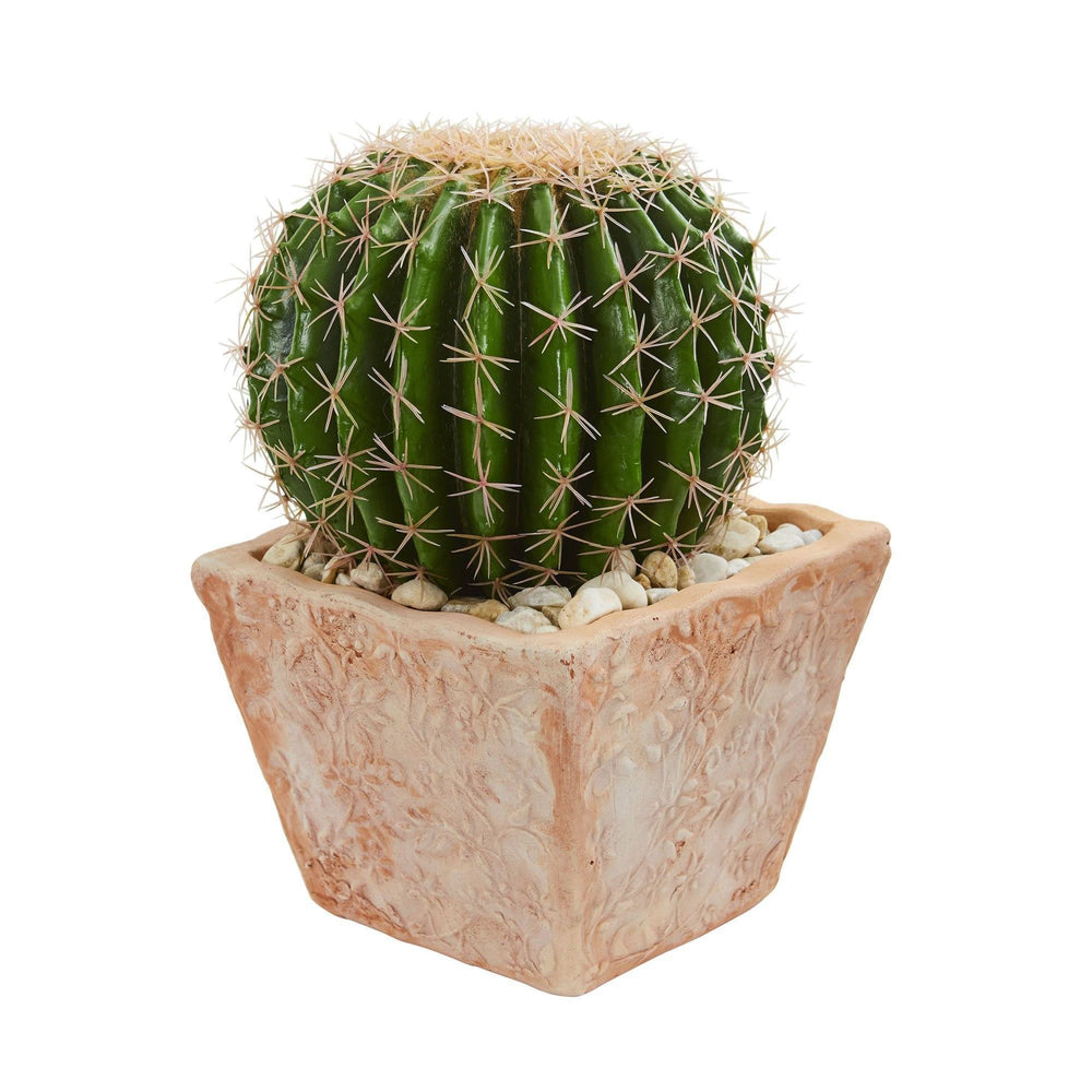 17 Cactus Artificial Plant In Terra Cotta Planter Nearly Natural