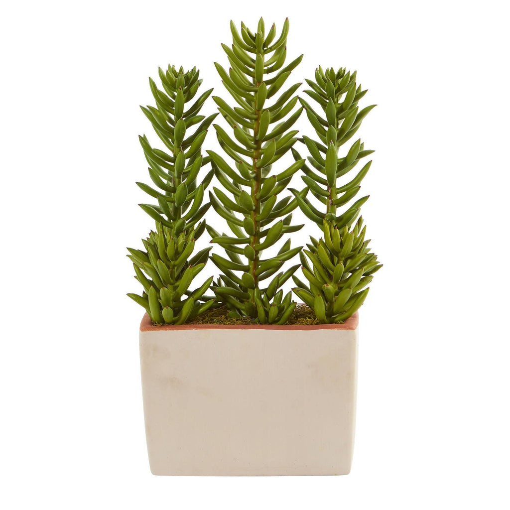 17 Succulent Artificial Plant With Decorative Planter Nearly Natural