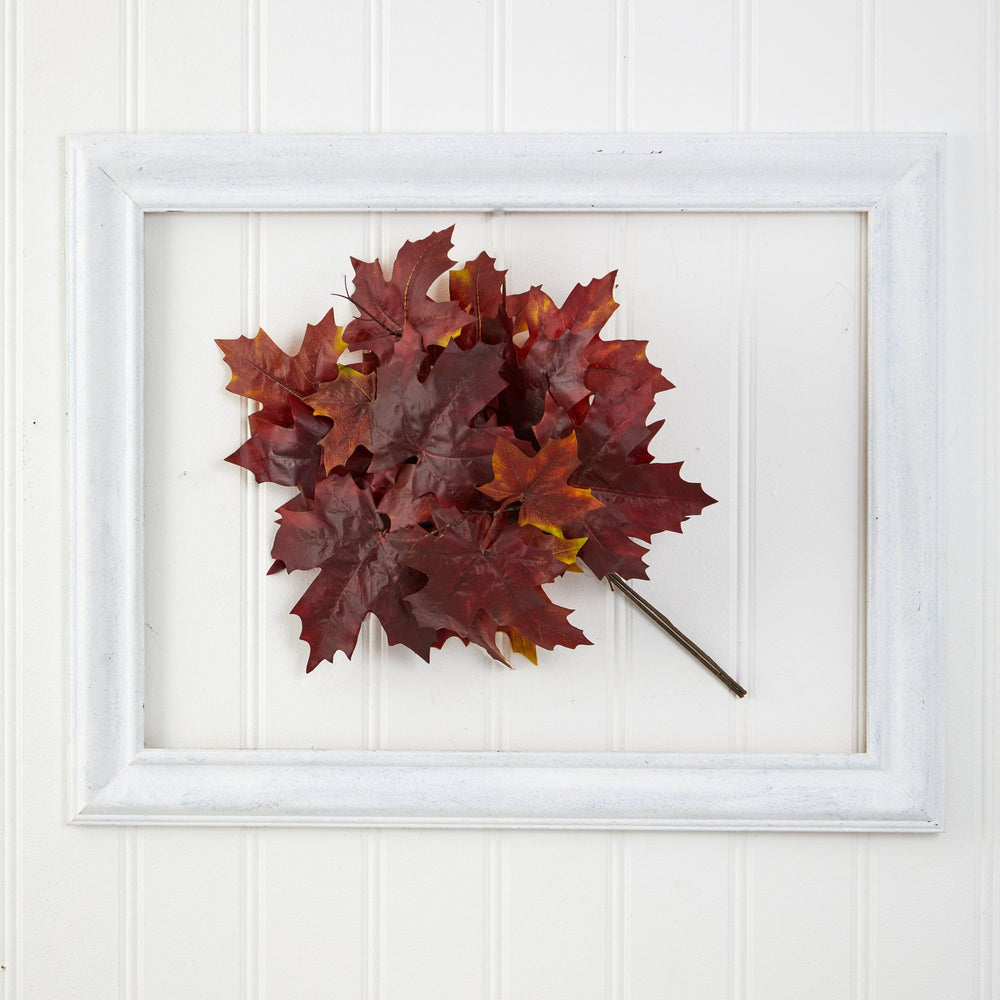 "18"" Autumn Maple Leaf Artificial Flower (Set of 2)"