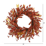 "18"" Harvest Berry Artificial Wreath"