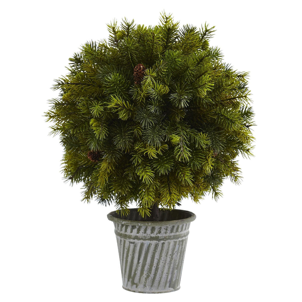 "18"" Pine Ball in Iron Top"