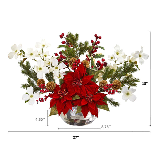 Christmas Wreaths Garlands Decorative Floral Arrangements Nearly Natural