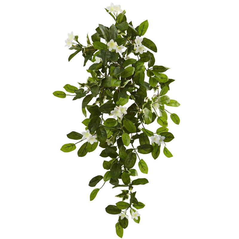 "19"" Mixed Stephanotis & Ivy Hanging Artificial Plant (Set of 4)"