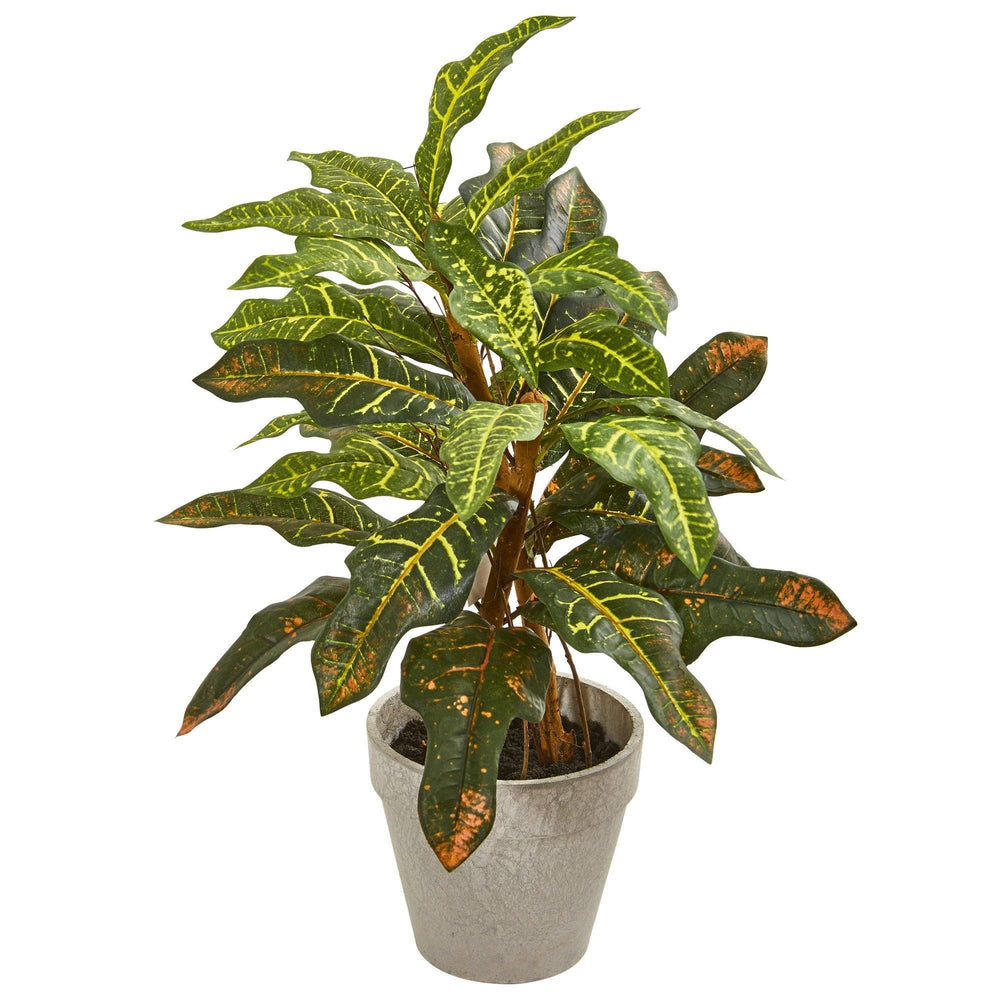 2' Croton Artificial Plant