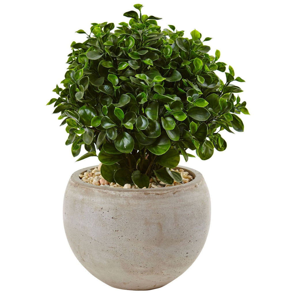 2 Eucalyptus In Sand Colored Bowl Uv Resistant Indoor Outdoor Nearly Natural
