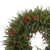 "20"" Cedar Berry Wreath"