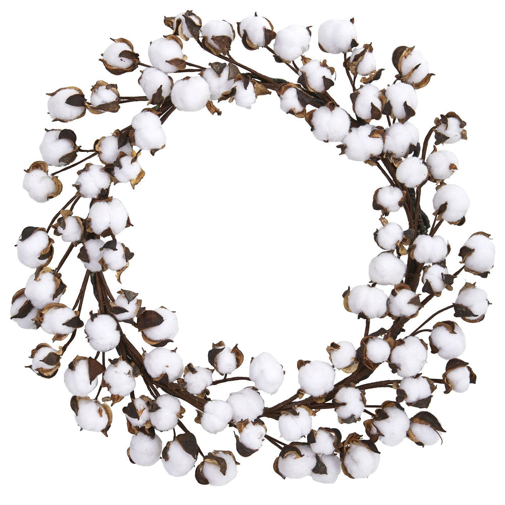 "20"" Cotton Ball Wreath"