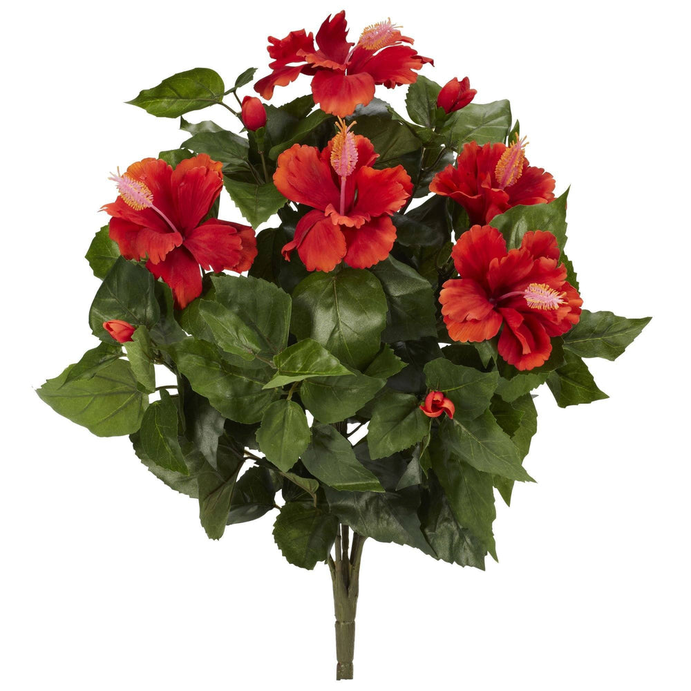 "20"" Hibiscus Artificial Plant (Set of 4)"