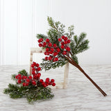"20"" Iced Pine and Berries Artificial Plant (Set of 4)"