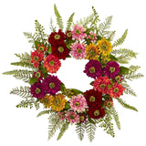 "20"" Mixed Flower Wreath"