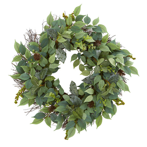 Christmas Wreaths, Garlands And Swags