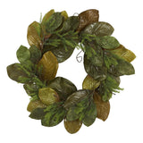 "26"" Magnolia Leaf Artificial Wreath"