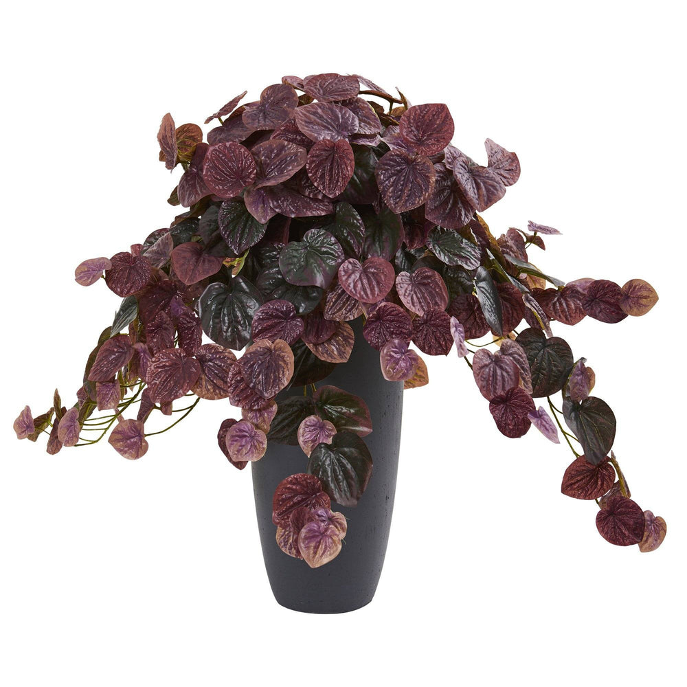 26 Peperomia Artificial Plant In Decorative Planter Real Touch 8691 Nearly Natural
