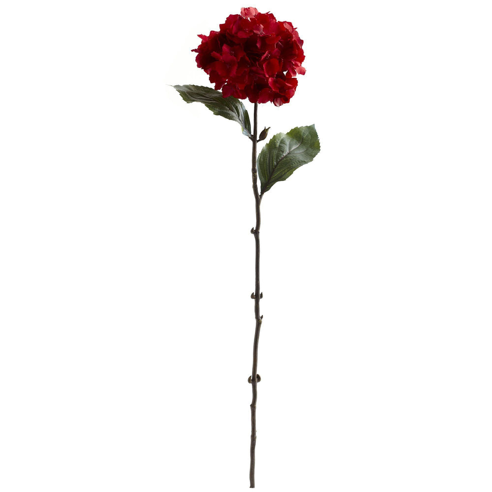 "26"" Red Hydrangea Artificial Flower (Set of 6)"