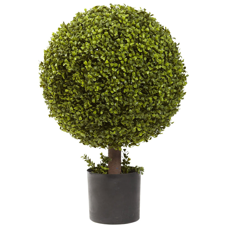 "27"" Artificial Boxwood Ball Topiary"