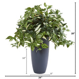 "28"" Florida Beauty Artificial Plant in Gray Planter"