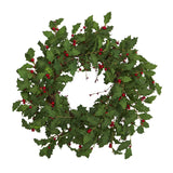 "28"" Holly Berry Artificial Wreath"
